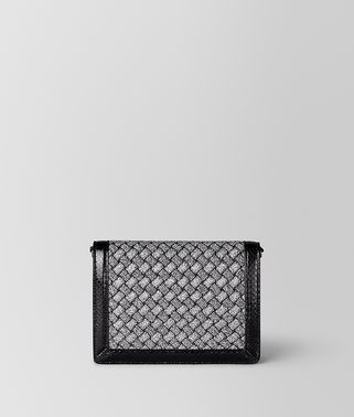 CHAIN WALLET IN INTRECCIATO KNITTED AND AYERS