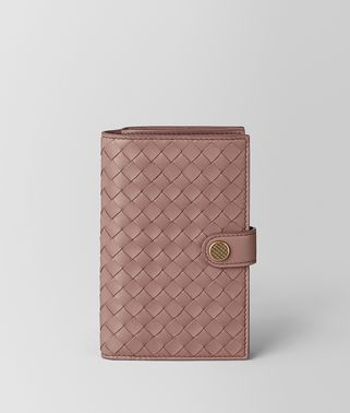 FRENCH WALLET IN INTRECCIATO NAPPA