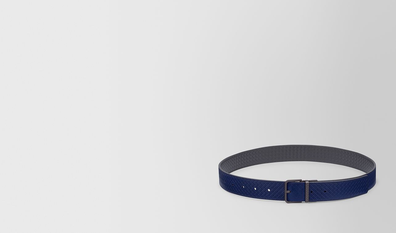 reversible belt in micro intrecciato embossed  landing