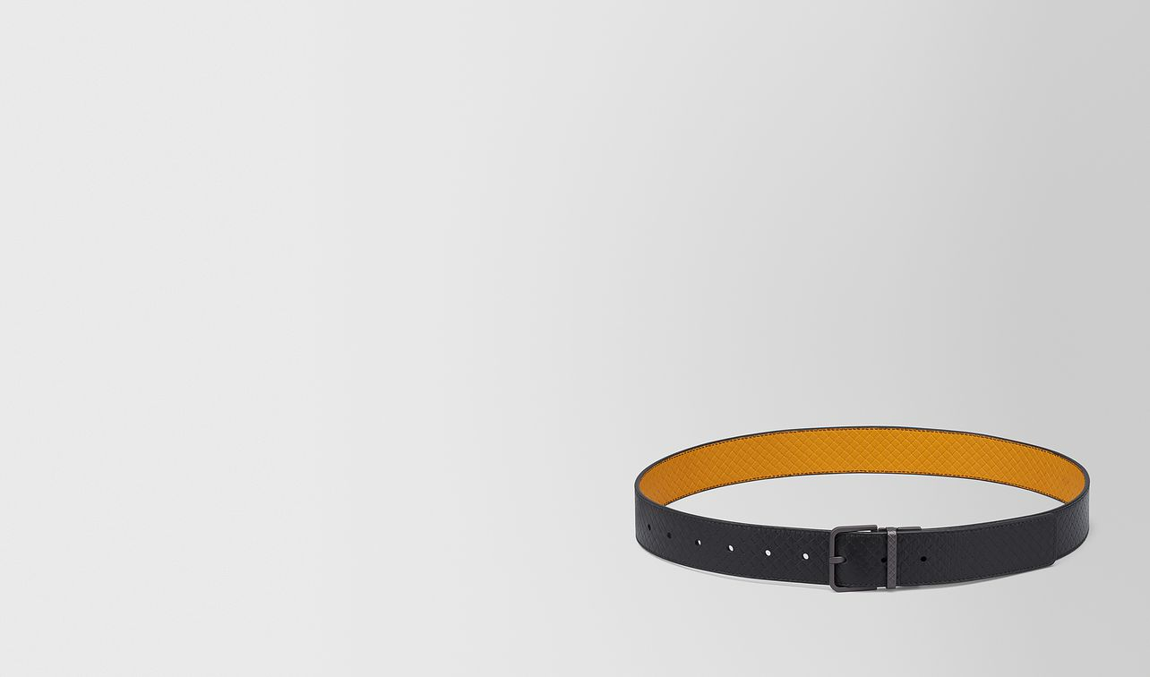 reversible belt in micro-intrecciato embossed  landing