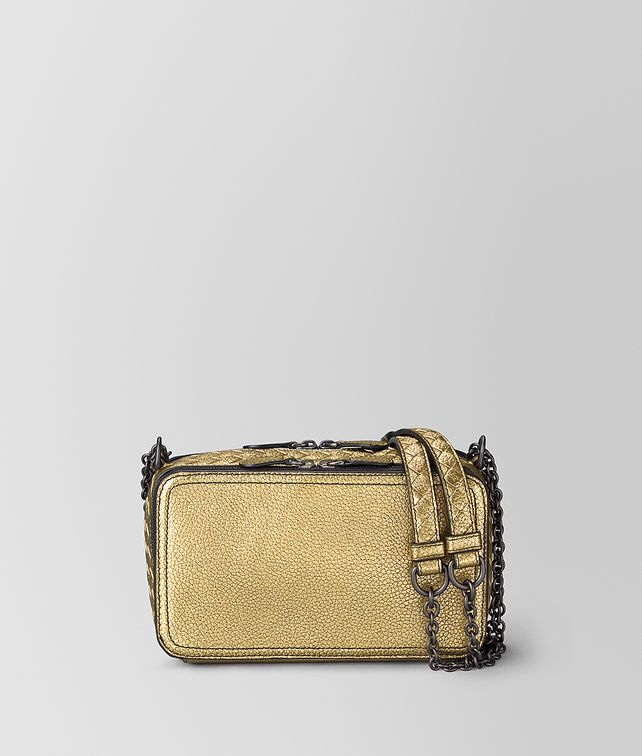 BOTTEGA VENETA CHAIN WALLET IN METALLIC LAMB Mini Bag and Pouche Woman fp