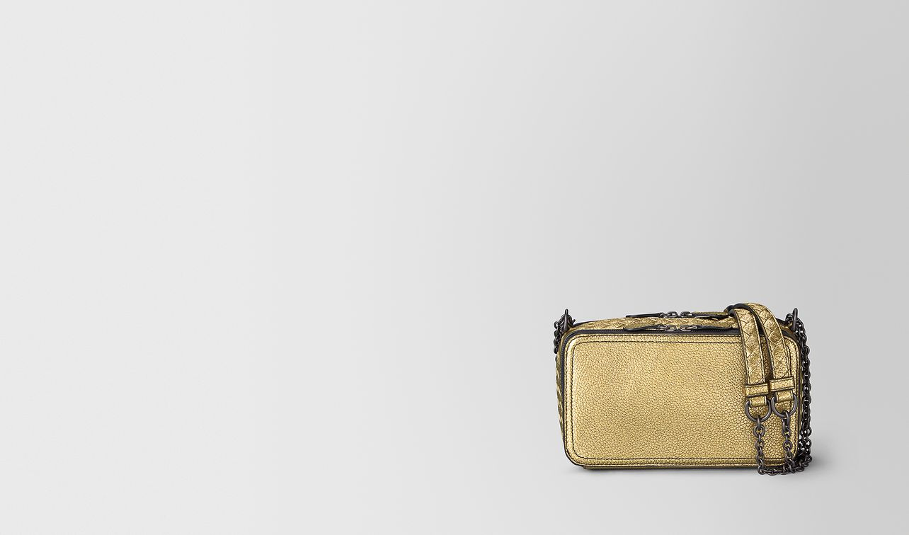 chain wallet in metallic calf leather  landing