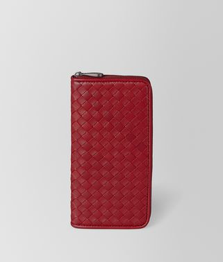 ZIP AROUND WALLET IN INTRECCIATO NAPPA