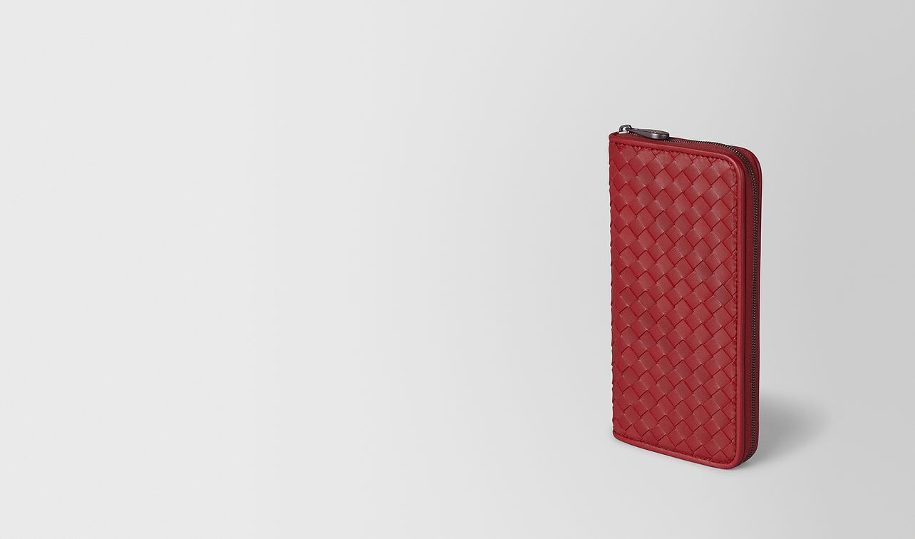 zip around wallet in intrecciato nappa  landing