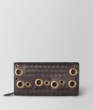 CONTINENTAL WALLET IN INTRECCIATO LACE