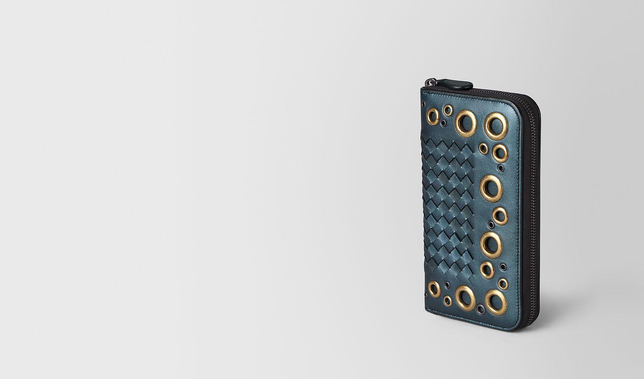 zip around wallet in intrecciato lace  landing