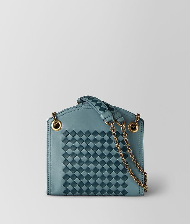 BOTTEGA VENETA CHAIN WALLET IN INTRECCIATO CHEQUER CHAIN WALLET [*** pickupInStoreShipping_info ***] fp