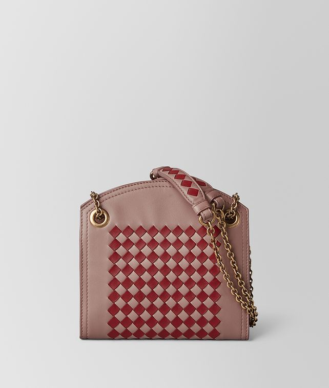 BOTTEGA VENETA CHAIN WALLET IN INTRECCIATO CHECKER Mini Bag and Pouche Woman fp