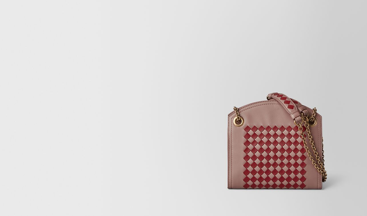 chain wallet in intrecciato checker  landing