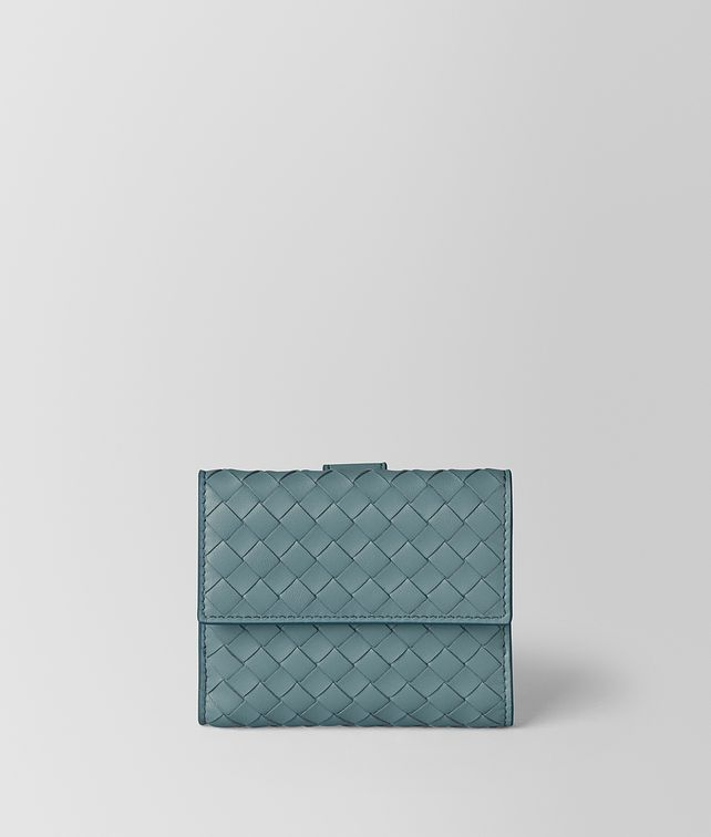 BOTTEGA VENETA FRENCH WALLET IN INTRECCIATO NAPPA Small Wallet [*** pickupInStoreShippingNotGuaranteed_info ***] fp