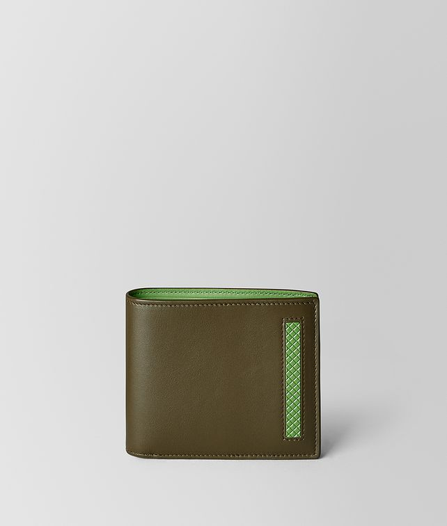 BOTTEGA VENETA BILLFOLD IN FRENCH CALF AND ENAMEL Bi-fold Wallet [*** pickupInStoreShippingNotGuaranteed_info ***] fp
