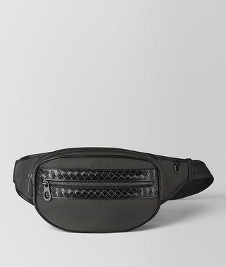 ニューライトグレー ネロ ハイテクキャンバス メタルブラッシュ ベルトバッグ