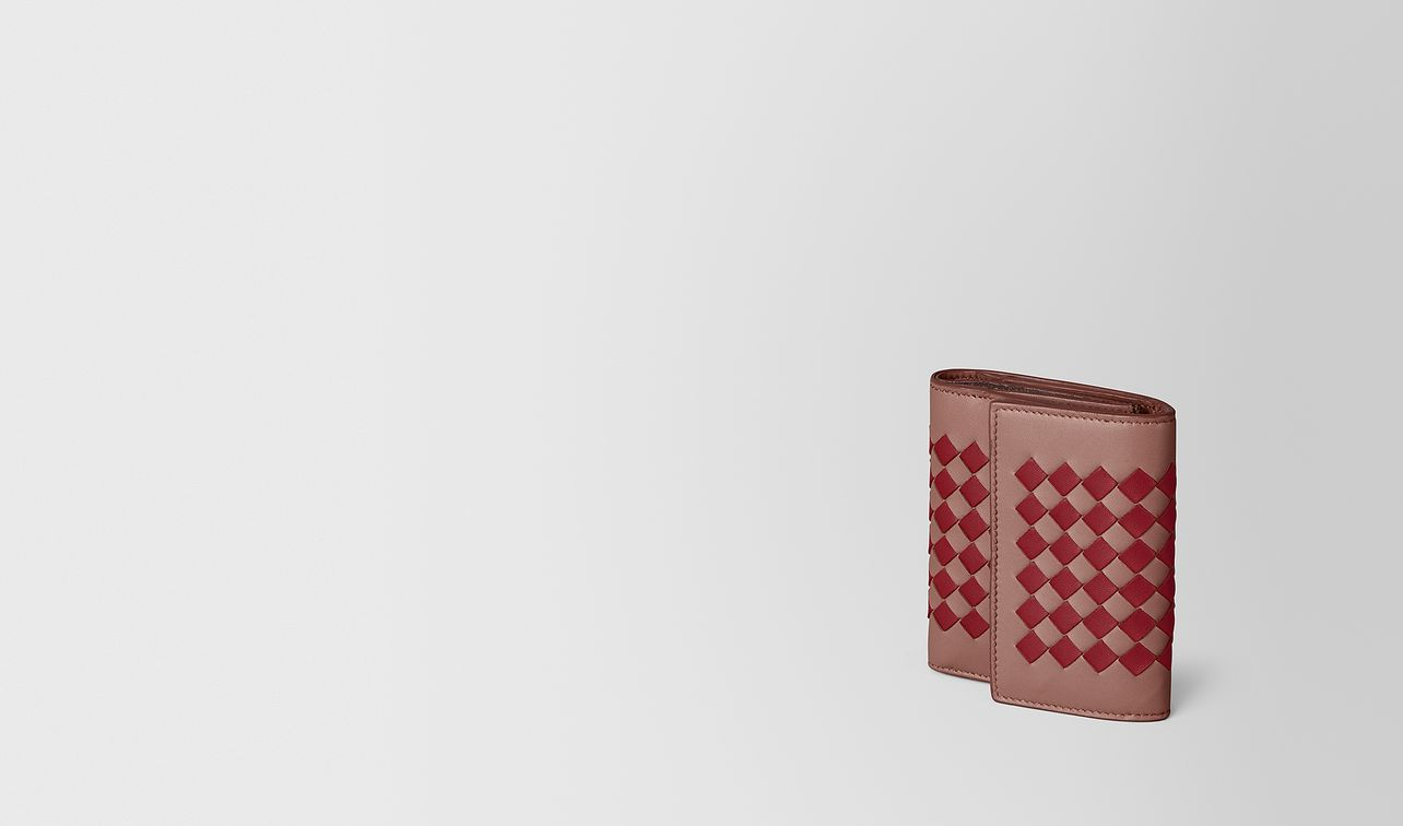 continental wallet in intrecciato chequer  landing