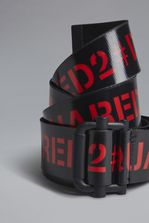 DSQUARED2 Red & Black Punk Tape Belt Belt Man