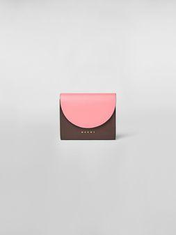 Marni Flap bi-fold wallet in leather Woman