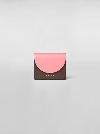 Marni Flap bi-fold wallet in leather Woman