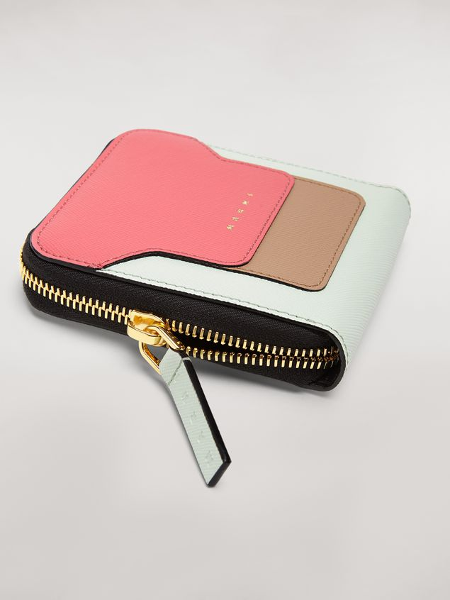 Marni Squared zip-around wallet in saffiano leather Woman - 4