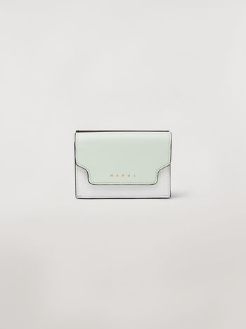 Marni Tri-fold wallet in saffiano leather Woman