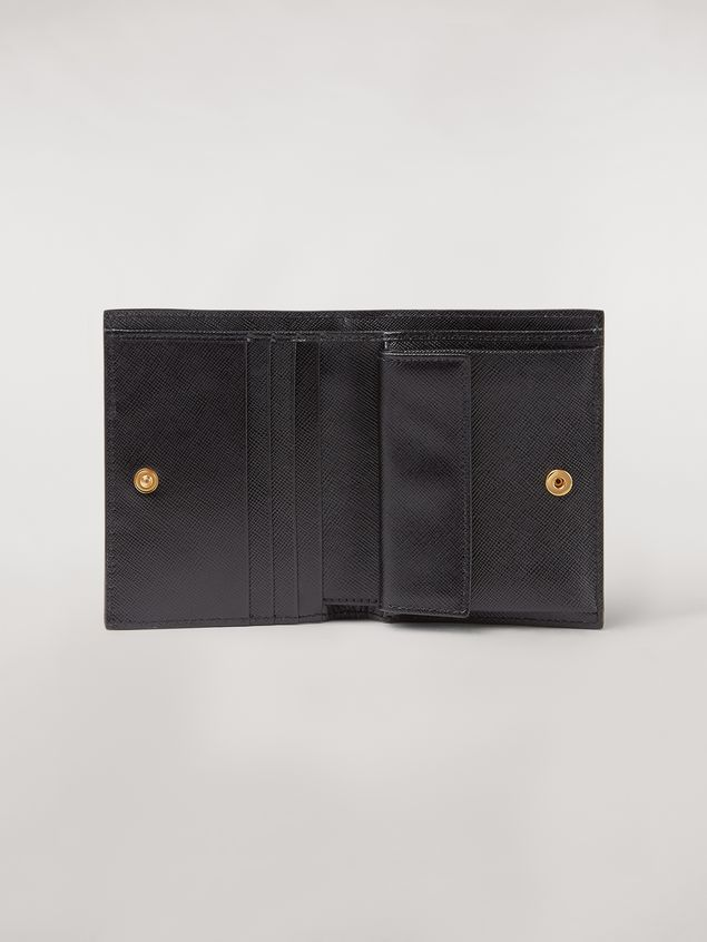 Marni Bi-fold wallet in saffiano leather in green, white and noir Woman - 2
