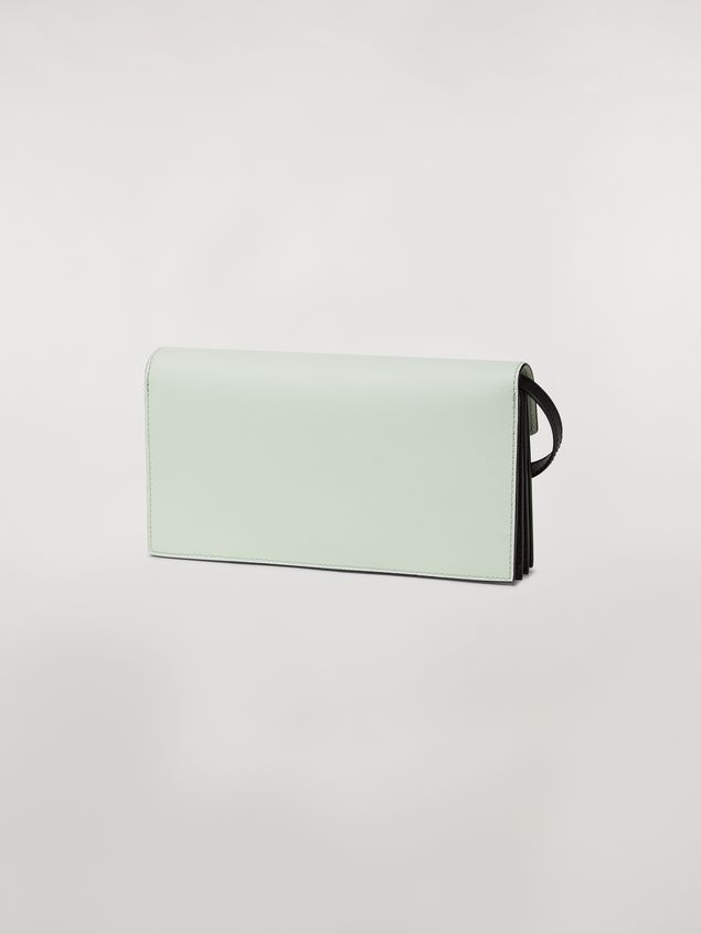 Marni Bellows wallet in saffiano leather in green, white and noir Woman - 3