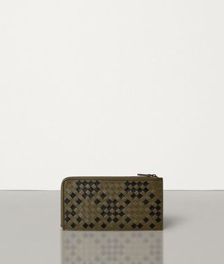 ZIP-AROUND WALLET IN INTRECCIATO NAPPA