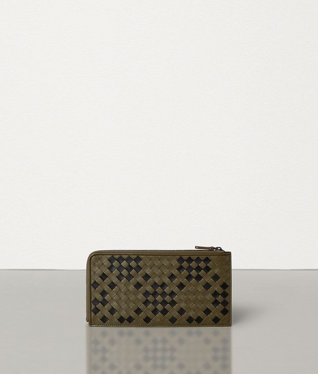 BOTTEGA VENETA ZIP-AROUND WALLET IN INTRECCIATO NAPPA Large Wallet [*** pickupInStoreShippingNotGuaranteed_info ***] fp