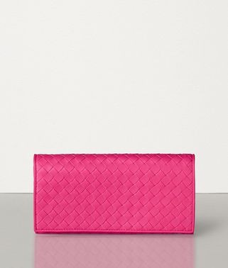 CONTINENTAL WALLET IN VELVET CALF INTRECCIATO LEATHER