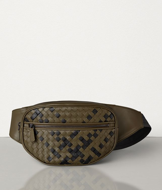 BOTTEGA VENETA BELT BAG IN INTRECCIATO NAPPA Belt Bag Man fp