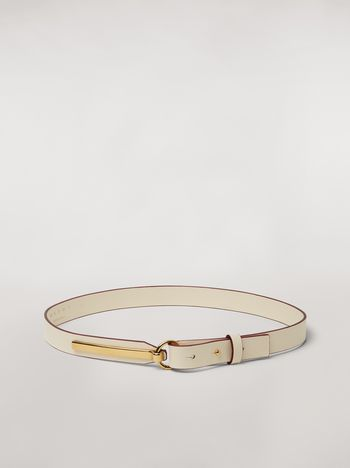 Marni Calfskin belt with brass detail Woman f