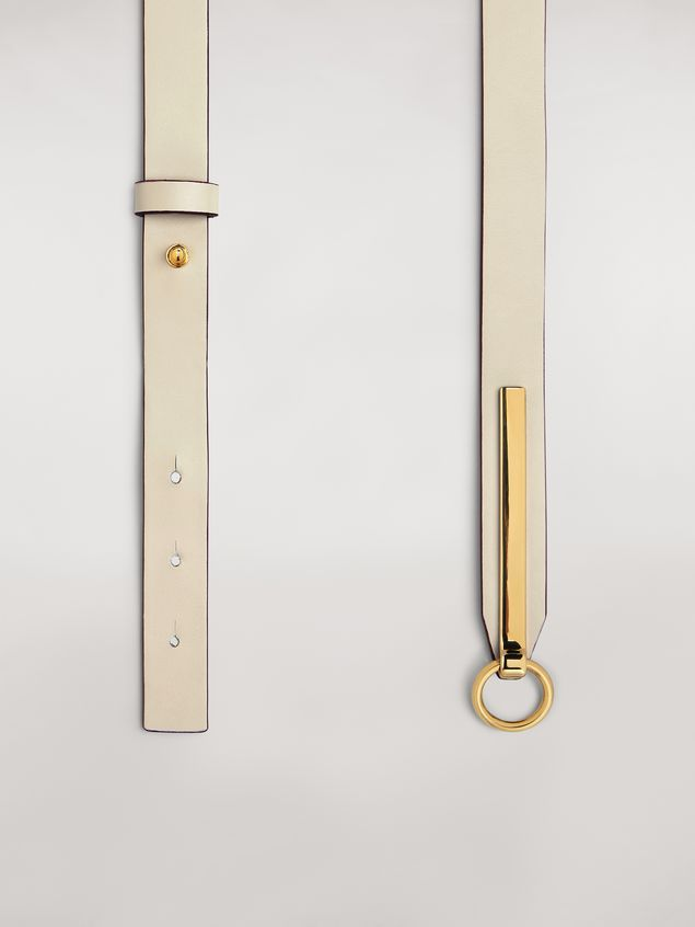 Marni Calfskin belt with brass detail Woman - 4