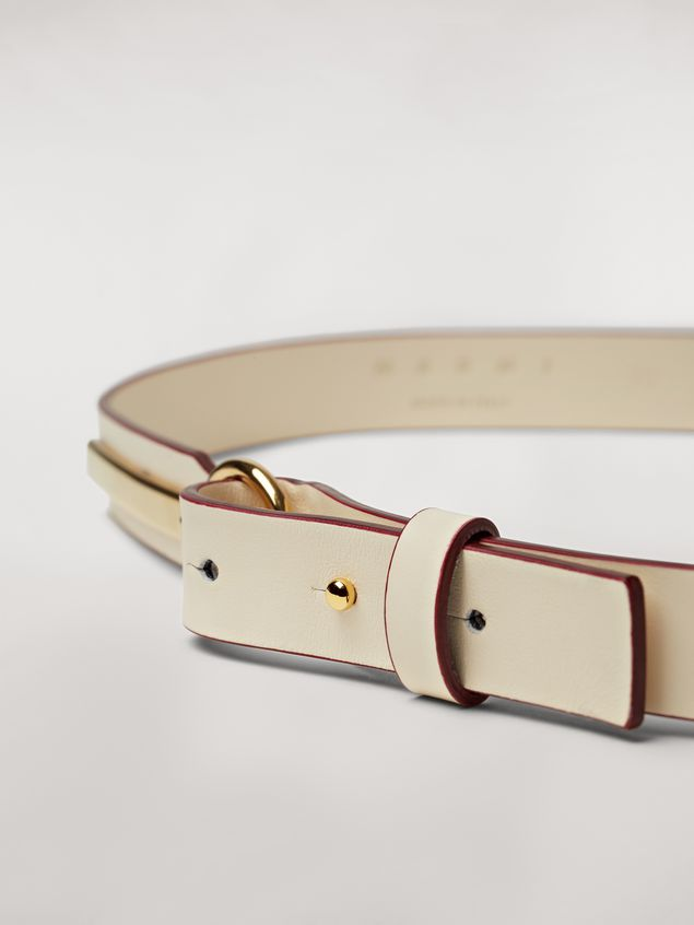 Marni Calfskin belt with brass detail Woman - 3