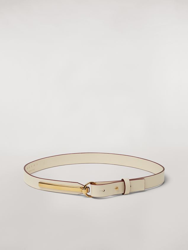 Marni Calfskin belt with brass detail Woman - 1