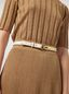 Marni Calfskin belt with brass detail Woman - 2