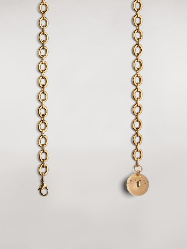 Marni Gold-tone metal belt with ball pendant Woman - 4