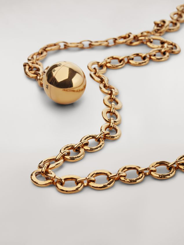 Marni Gold-tone metal belt with ball pendant Woman - 3