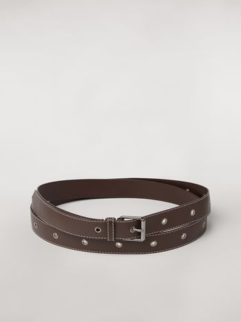 Marni Extra wide lambskin belt Woman