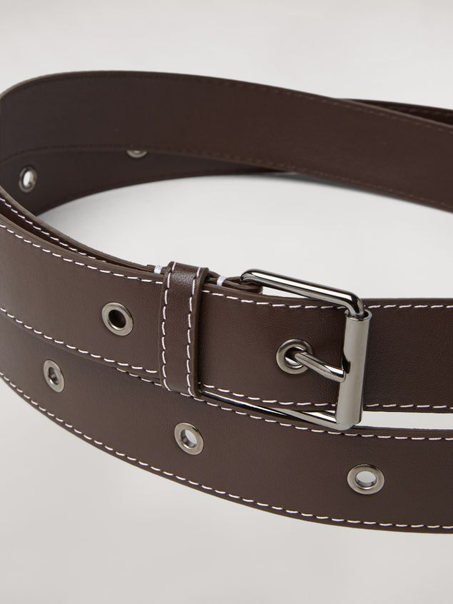 Marni Extra wide lambskin belt Woman - 3
