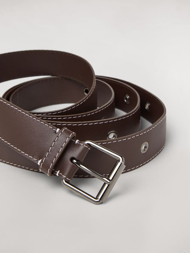 Marni Extra wide lambskin belt Woman - 2