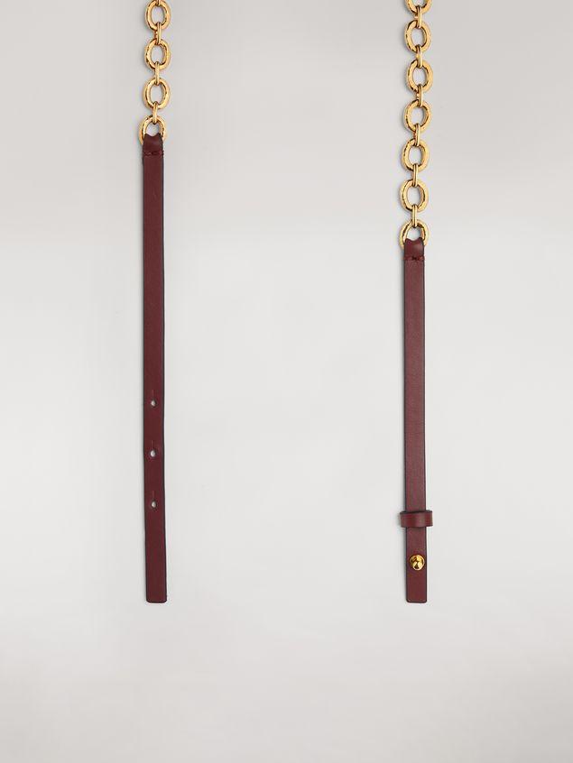 Marni Brown calfskin belt with chain Woman - 4