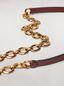 Marni Brown calfskin belt with chain Woman - 3