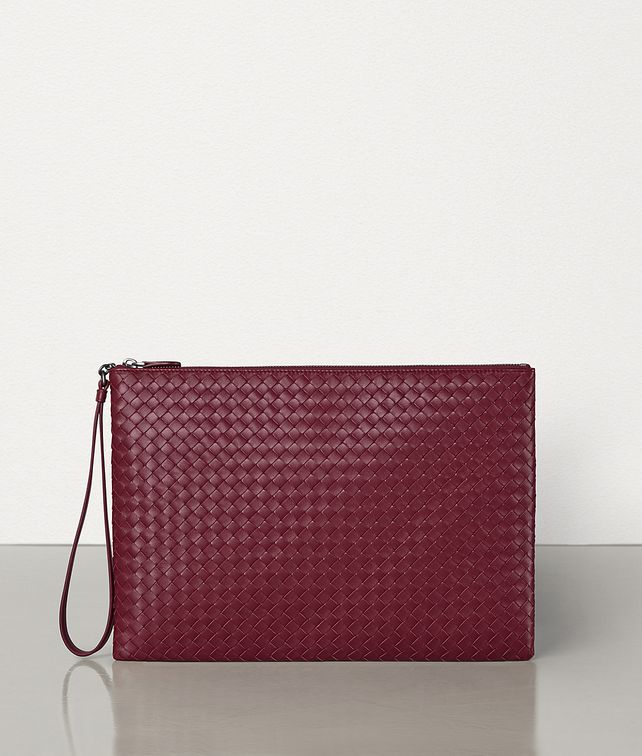 BOTTEGA VENETA LARGE BILETTO IN INTRECCIATO NAPPA Pouch E fp