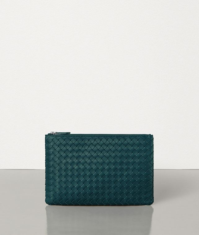 BOTTEGA VENETA SMALL BILETTO IN INTRECCIATO NAPPA Pouch E fp