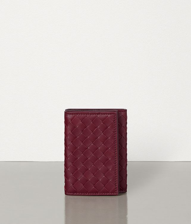 BOTTEGA VENETA MINI CONTINENTAL WALLET IN INTRECCIATO NAPPA Small Wallet Woman fp