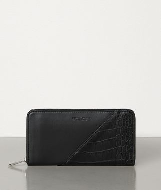 MEDIUM ZIP AROUND WALLET IN ALLIGATOR AND CALF