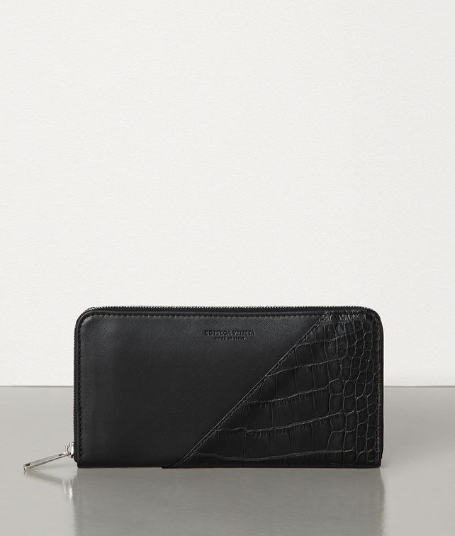 BOTTEGA VENETA MEDIUM ZIP-AROUND WALLET IN ALLIGATOR AND CALF LEATHER Large Wallet [*** pickupInStoreShippingNotGuaranteed_info ***] fp
