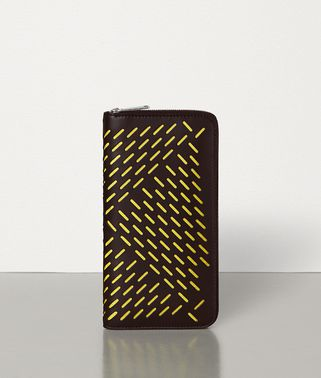 MEDIUM ZIP AROUND WALLET IN PERFORATED PAPER CALF