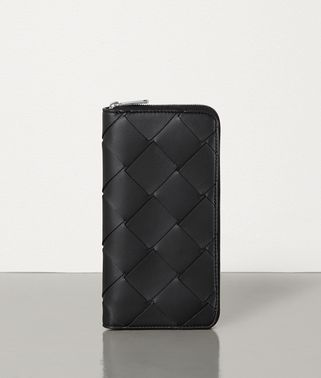 MEDIUM ZIP AROUND WALLET IN INTRECCIATO NAPPA