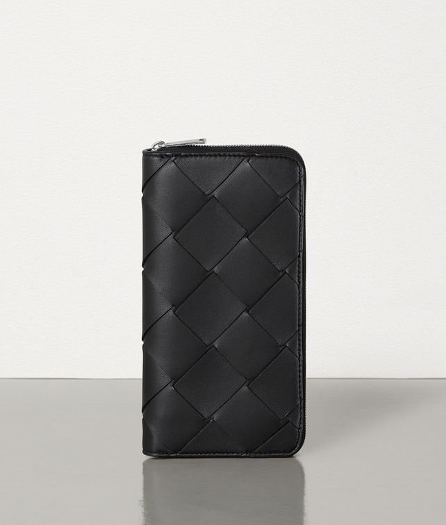 BOTTEGA VENETA MEDIUM ZIP-AROUND WALLET IN INTRECCIATO NAPPA Large Wallet [*** pickupInStoreShippingNotGuaranteed_info ***] fp