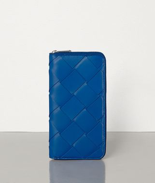 MEDIUM ZIP-AROUND WALLET IN INTRECCIATO NAPPA