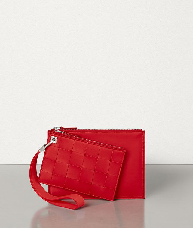 BOTTEGA VENETA SMALL DOUBLE POUCH IN NAPPA Pouch E fp